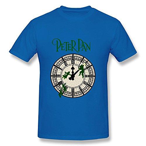 Jade Men's Tee - Particular Romance Film Peter Pan Alarm Clock RoyalBlue SizeXS