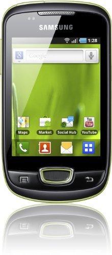 Samsung Galaxy Mini S5570i Smartphone (7,9 cm (3,2 Zoll) Touchscreen, 3,15 Megapixel Kamera, UMTS) lime-green