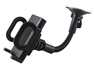 Universal Car Windshield Mount Holder for iPhone Samsung Cell Phone iPod Smart Cell Phone MP3 PDA GPS Black by Noblestandard
