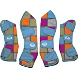 Weatherbeeta FULL Size travel Boots - Charcoal Squares Design