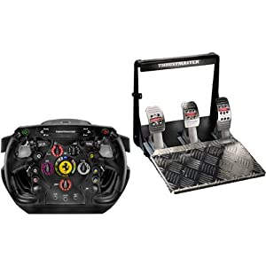 Amazon.com: Ferrari F1 Integral T500 Racing Wheel and Foot Pedals 