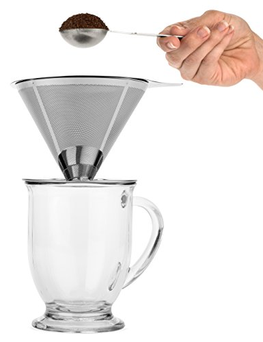 Bartelli-Paperless-Pour-Over-Coffee-Dripper-Stainless-Steel-Reusable-Coffee-Filter-and-Single-Cup-Coffee-maker
