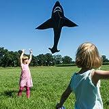 Einleiner-Drachen-Sky-Shark-fr-Kinder-ab-6-Jahren-Abmessung-143x225cm-inkl-80m-Drachenschnur