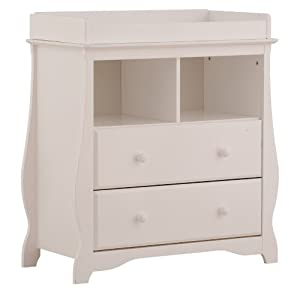 Stork Craft 03580-101 Carrara 2 Drawer Change Table (White)