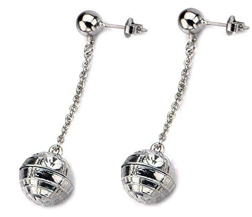 Star Wars Death Star Dangle Pendant Earrings