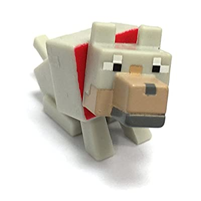 Highly Collectable Minecraft Mini Figure Series 2 - Tamed Wolf from Mattel