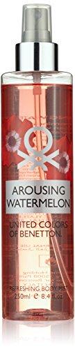 United Colors of Benetton, Arousing Watermelon, Spray corpo profumato e rinfrescante da donna, 250 ml
