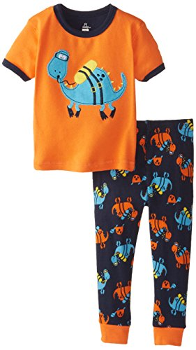 Petit Lem Baby Boys' Dino Short Sleeve Sleep Set