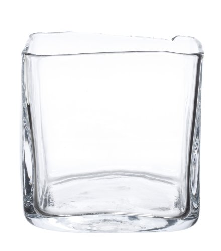 Zodax Vanguard Picasso Square Glass Vase Large Deal Online Best Buy