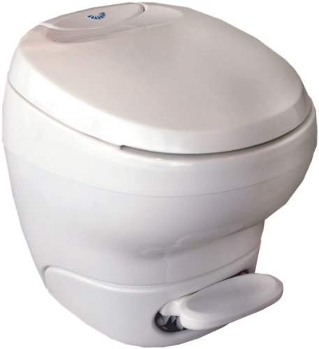 Thetford 31122 Bravura White Low Profile Toilet with Water Saver Spray