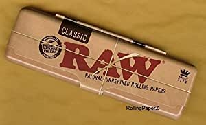 RAW KS Tin Blechdose für Longpapers inkl 1x Raw Connoisseur Papers und Tips