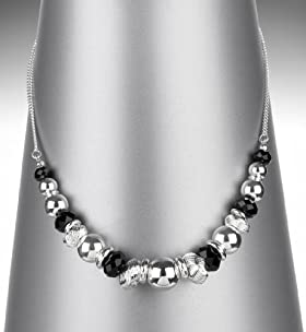 Silver Plated Mixed Gem Collar Necklace