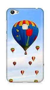 Amez designer printed 3d premium high quality back case cover for Vivo X6 (Hot air balloon field)