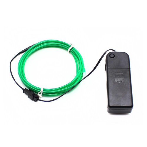 Electronic4Sale 9Ft Portable Neon Glowing Strobing Electroluminescent Wires (El Wire) For Christmas/Party - Green