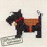 Mouseloft Mini Cross Stitch Kit Scottie Dog Stitchlets Collection