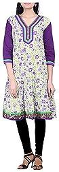 BleuIndus Women's Cotton Straight Kurta (KRT-355_XXL, Multi-Coloured, XXL)