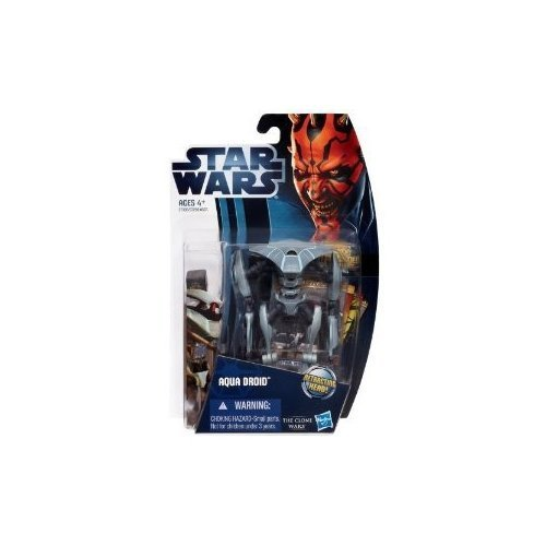 Star Wars Clone Wars Animated 2012 Figure Aqua Droid #10 by Hasbro Inc (English Manual)