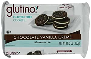 Glutino Chocolate Vanilla Creme Dream Cookies, 10.5-OunceBoxes (Pack of 6)