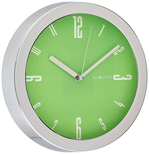 DecoMates Non-Ticking Silent Wall Clock, Lime Green Vivid