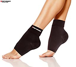 Compression Foot Sleeve (1 Pair) Toeless Plantar Fasciitis Socks for Faster Recovery and Arch Pain Relief for Women and Men