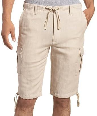 Perry Ellis Men's Linen Cargo Clam Digger, Crimini, 40 at Amazon Men
