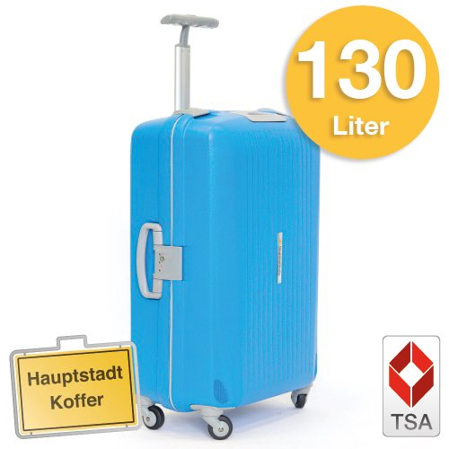 Hartschalen Koffer Blau/Grau Matt Hochglanz max.130