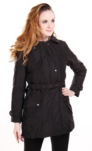 CHAREX Warm Hooded Faux Fur Ling Winter Coat Long Jacket Parka Women 3XL Black