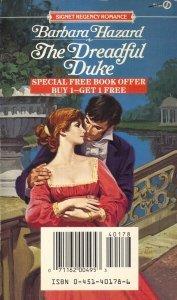 The Dreadful Duke (Signet Regency Romance), Barbara Hazard