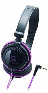 Audio Technica DJ ATH-SJ11BPK Casque supra-aural avec Écouteurs rotatifs Noir/Rose