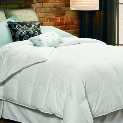 """10"""" Baffled Boxstitch Summer Weight Snow White Down Comforter Size: King, Weight: Summer Weight"""