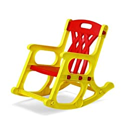 Nilkamal Toy Rocker Chair (Yellow and Red)