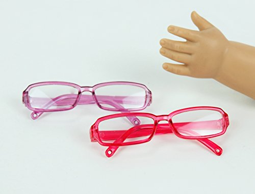 Pink and Purple Framed Glasses | Fits 18