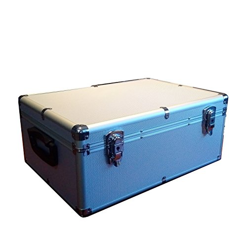 510 Aluminum Like CD DVD Blu-Ray Carry & Storage Case Box Silver with Sleeves