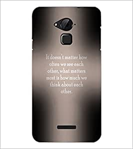 PrintDhaba Quote D-3973 Back Case Cover for COOLPAD NOTE 3 LITE (Multi-Coloured)