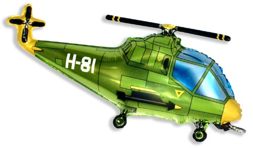 Elicottero Verde : Elicottero balloon quot palloncino foil verde toy