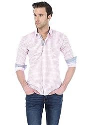 Basics Men's Formal Shirt (8907054400447_14BSH31263_Pink_M)