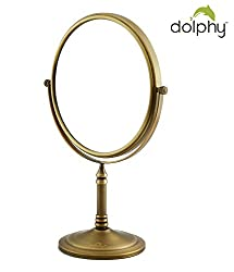 Dolphy Bronze 5x Magnification Tabletop Shaving & Makeup Vanity Mirror - 8 Inch