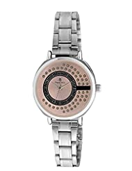 Franck Bella Wedding Series Diamond Studed Dial Analog Pink Dial Women's Watch-FB0142A