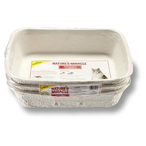 Litter Boxes Nature's Miracle Disposable Litter Box, Regular, 3-Pack, New (Natures Miracle Litter Box compare prices)
