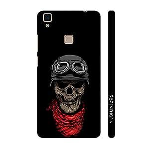 Enthopia Designer Hardshell Case Skull 3 Back Cover for Vivo V3 Max