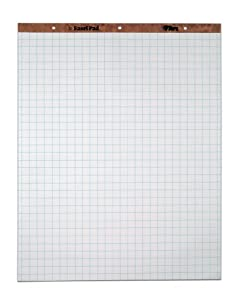 TOPS Easel Pad, 3-Hole Punched, 16 Pound Stock, 27 x 34 Inches, 50 Sheets, White, (7902)