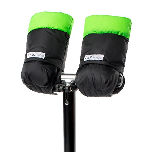 7AM Enfant Kids WarMMuffs, Black/Neon Green, Small