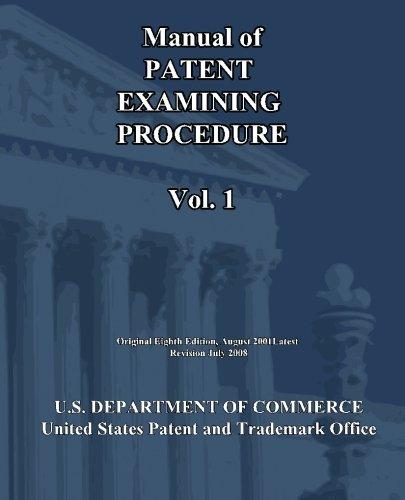 Manual of Patent Examining Procedure (Vol.1)
