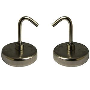 Amazon Com Iit 90370 Magnetic Hooks 1 1 2 Inch 2 Hooks
