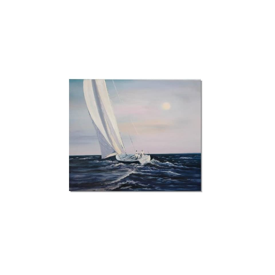 100% Handmade Ocean Seascape Oil Painting on Canvas Sailing Boat Big Waves Ships 724 Hand Painted Classical Fine Art for Your Home
