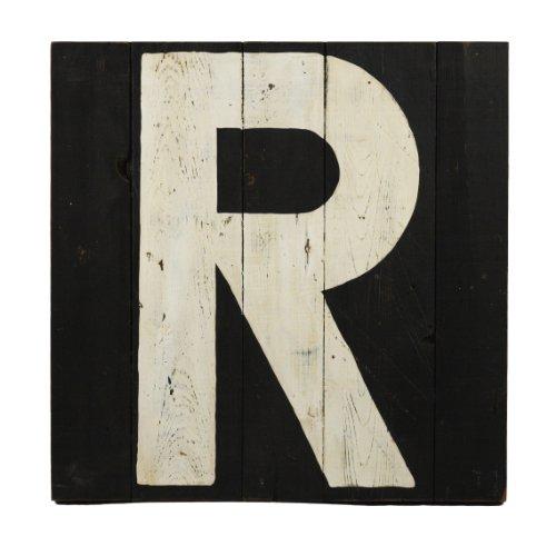 ZENTIQUE Wooden Letter, Monogrammed R - 1