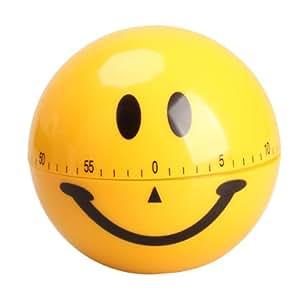 Vktech Smiley Kurzzeitwecker Kurzzeitmesser Eieruhr Eiermesser Küchentimer Lächeln Gesicht (60 Minuten)