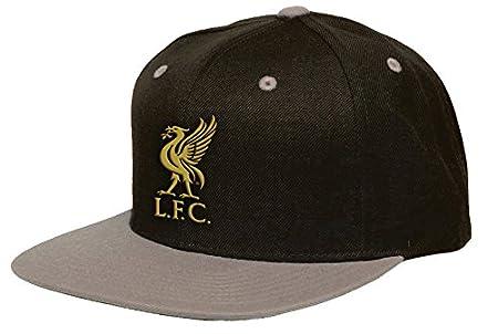 Liverpool F.C. Official 2-Tone Snapback Hat Cap-Black/Grey