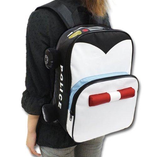 子供 リュック パトカー 通学 おしゃれ キッズ かわいい 子供用 バッグ リュックサック KIDS 緊急車両 ブラック / パトカー
