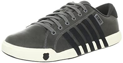 K-Swiss NEWPORT II 02944-086-M, Herren Trainers, Grau (Carbon/Black/Antique White), EU 40 (UK 6.5)